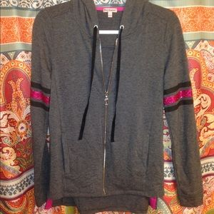Grey Juicy couture jacket sz sm fits bigger. nwot